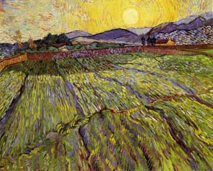 Van Gogh Enclosed Field with Rising Sun 1889