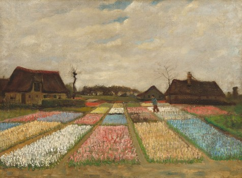 Van Gogh Flower Beds in Holland 1883.