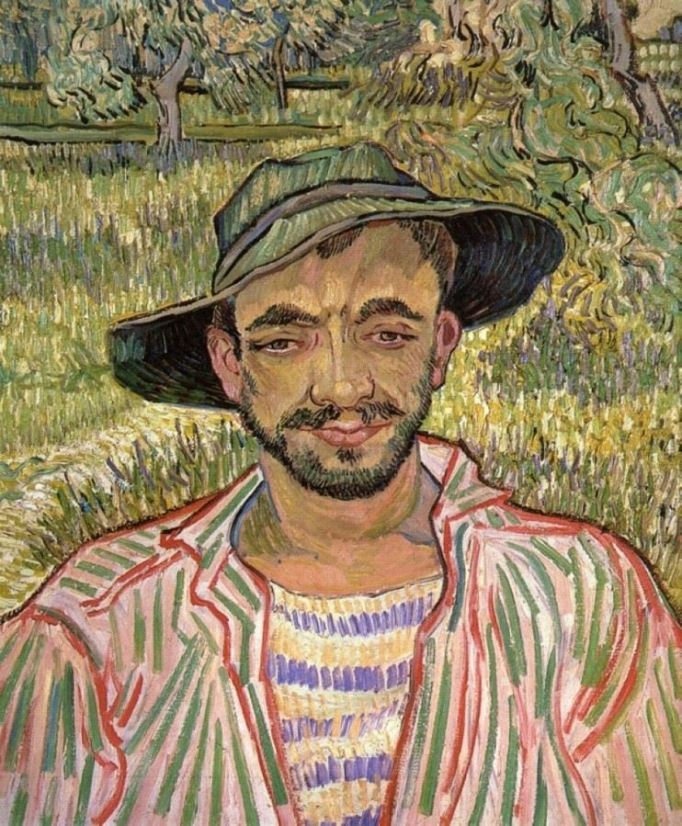 Van Gogh The Gardener- Portrait of a Young Peasant 1889