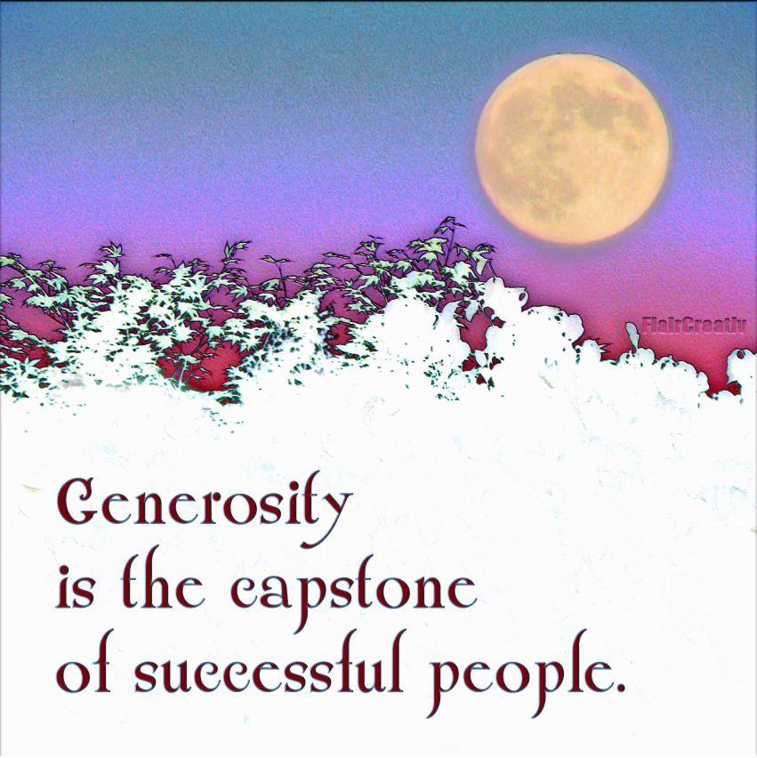 Moonrise generosity