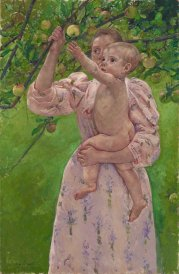 Child Picking a Fruit Mary Cassatt 1893