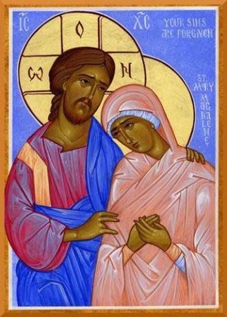 Christ Mary Magdalene Orthodox Icon
