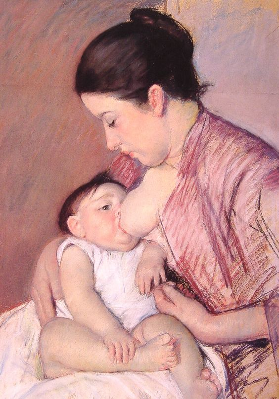 Mary Cassatt Maternite pastel on paper c1890