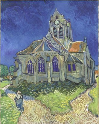 Van Gogh Church in Auvers-sur-Oise 1890)